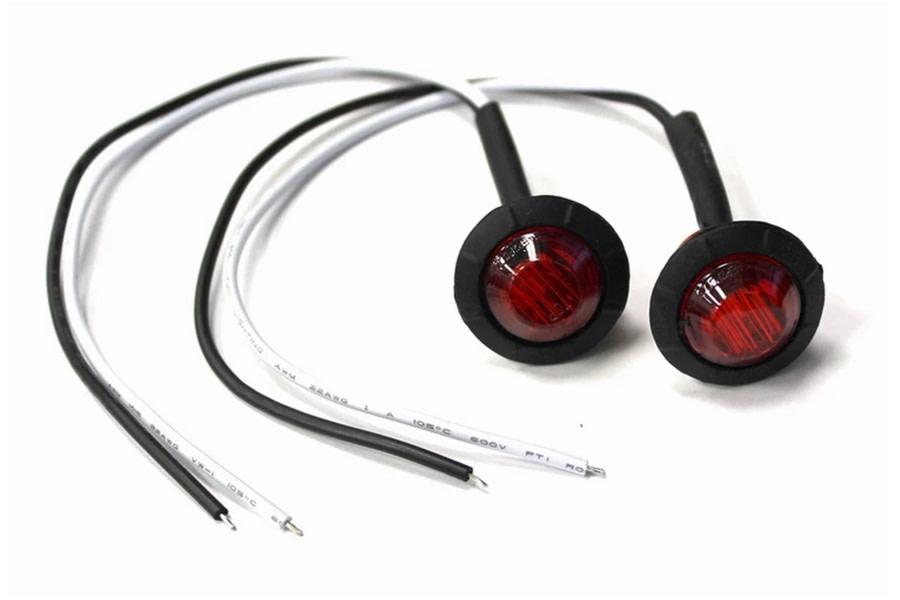 Motobilt 3/4in Red Lens LED Fender/Side Marker Light - Pair