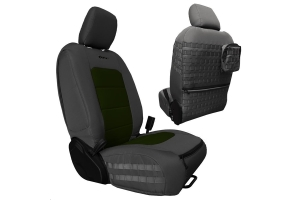 Bartact Tactical Front Seat Covers Graphite/Olive (Part Number: )