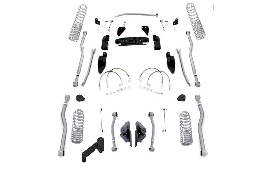 Rubicon Express Progressive Coil Extreme Duty 4-Link Long Arm Lift Kit 3.5in No Shocks (Part Number:JK4423P)
