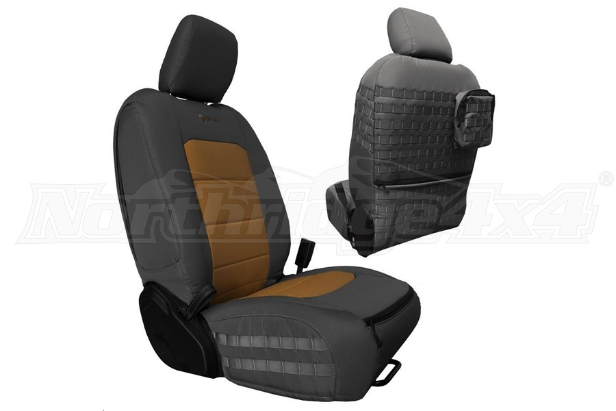 Bartact Tactical Front Seat Covers Graphite/Coyote (Part Number:JLTC2018FPGC)
