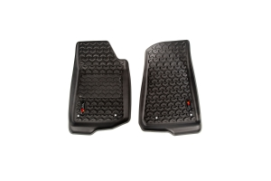 Rugged Ridge Front Floor Liner Kit, Black  (Part Number: )
