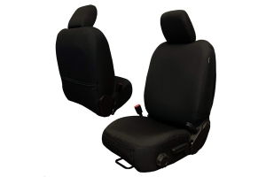 Bartact Baseline Seat Covers Front Pair Black - JL 4dr