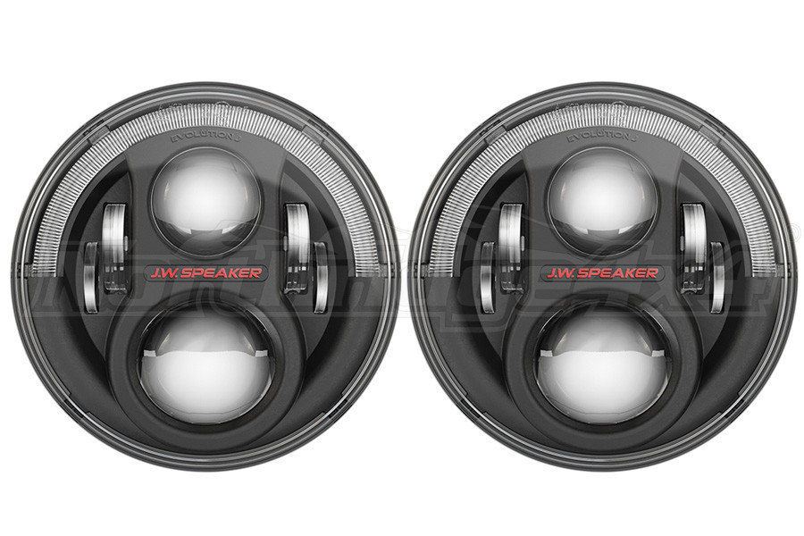 JW Speaker 8700 Evolution J2, Black Bezel Headlight Kit - JK