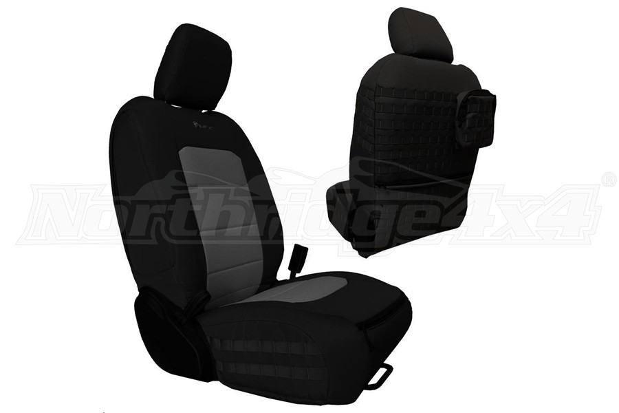 Bartact Tactical Front Seat Covers Black/Graphite (Part Number:JLTC2018FPBG)