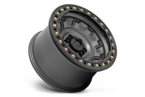 KMC Wheels KM236 Tank Series Beadlock Wheel, 17x9 5x5 - Anthracite - JT/JL/JK