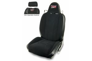 MasterCraft Baja RS Adj. Headrest Reclining Seat w/BRS Stitching - Black/Black/Black