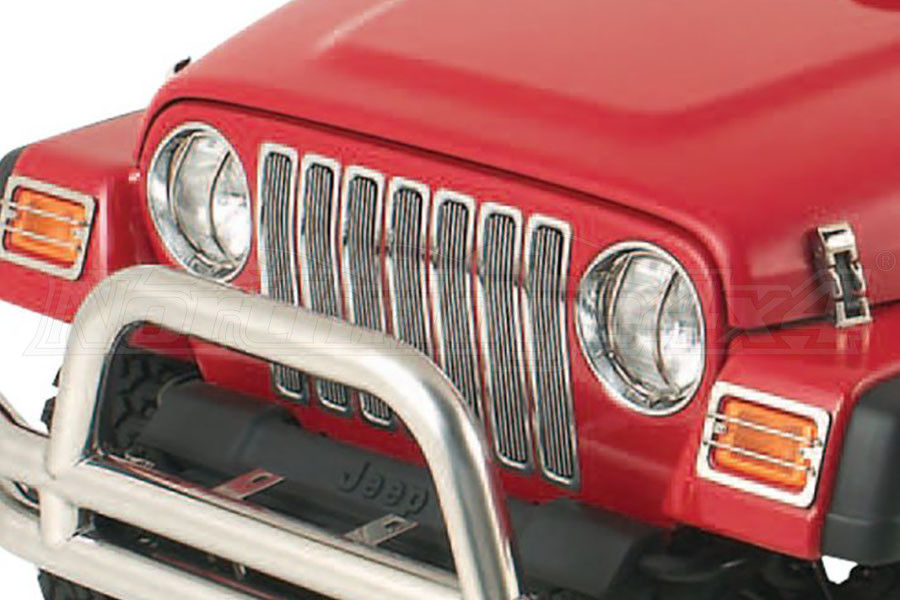 Smittybilt Billet Grille Overlay W/Chrome Insert Trim (Part Number:75511)