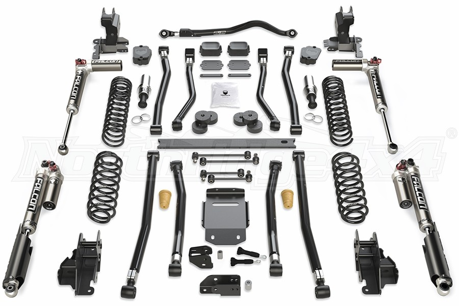 Teraflex Alpine RT4 4.5in Long Arm Lift Kit - w/Falcon SP2 3.3 Adjust. Shocks - JL 4dr