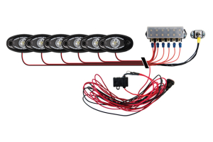 Rigid Industries Brandon Palaniuk A-Series Deck Light Kit Cool White/Red (Part Number: )