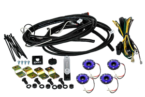 KC Hilites Rock Light Kit, 4 Lights, Blue (Part Number: )