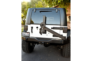 Rock-Slide Engineering Aluminum Rear Bumper w/Tire Carrier ( Part Number: RB-F-100-JKA)