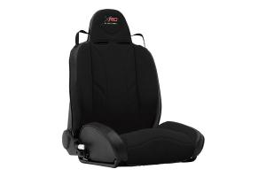 Smittybilt XRC Suspension Seat, Passenger Side, Black/Black - JK/TJ/LJ/YJ/CJ