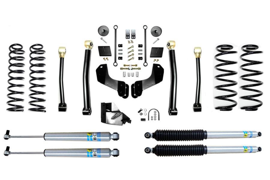 Evo Manufacturing 4.5in Enforcer Overland Stage 3 Lift Kit w/ Bilstein Shocks - JL 4Dr