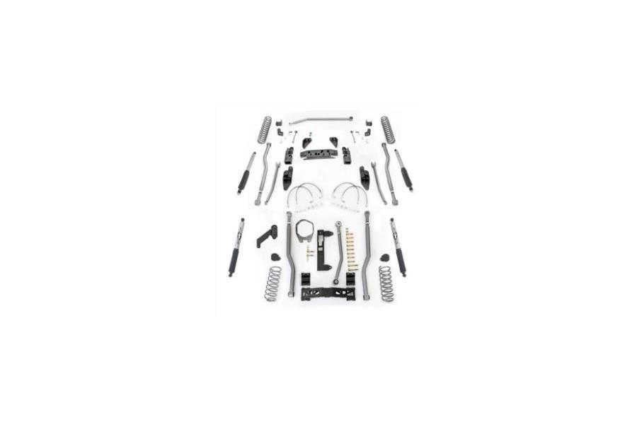 Rubicon Express Extreme Duty 4-Link Front/3-Link Rear Long Arm Lift Kit 3.5in w/Mono Tube Shocks - JK 4DR