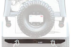LOD Xtreme Duty Rear Bumper Black Powder Coated - YJ