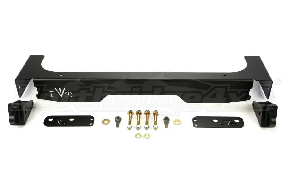 Evo Manufacturing Rear Steel Fascia w/D-Ring Mount Black - JK
