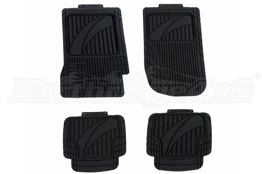 Rugged Ridge Universal Trim-to-Fit Floor Liners - 4pc Set