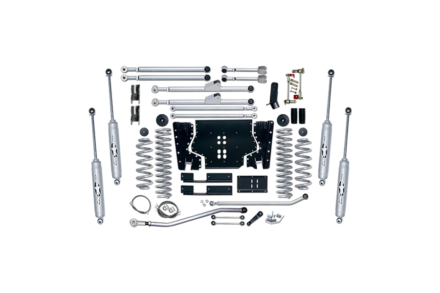Rubicon Express 3.5in Extreme Duty Long Arm Lift Kit Rear, Twin Tube Shocks (Part Number:RE7203T)