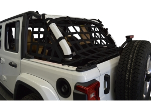 Dirty Dog 4x4 3pc Cargo Side Netting Kit, Black  - JL 4Dr