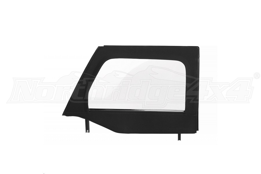 Bestop Front Upper Core Doors Black Twill, Pair - JK