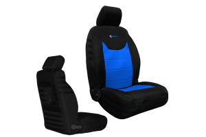 Bartact Tactical Series Front Seat Covers - Black/Blue, SRS Compliant - JK 2013+