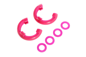 Rugged Ridge D-Shackle Isolator 3/4 Inch Kit, Pink Pair