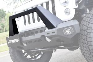 Aries Trail Chaser Front Bumper Angular Brush Guard - JK