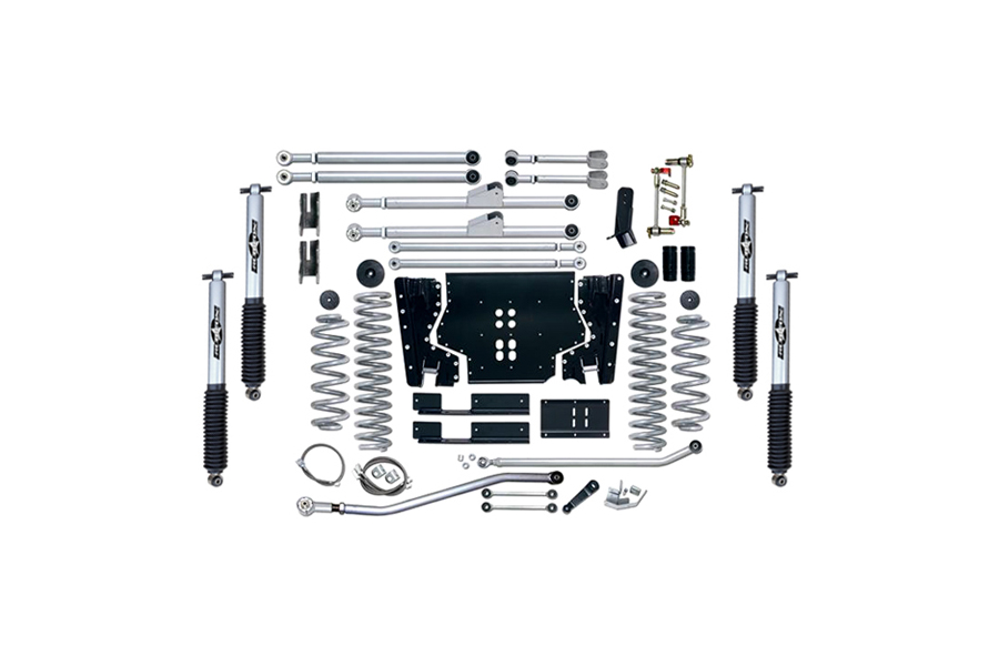Rubicon Express 4.5in Extreme Duty Long Arm Lift Kit Mono Tube Shocks (Part Number:RE7204M)