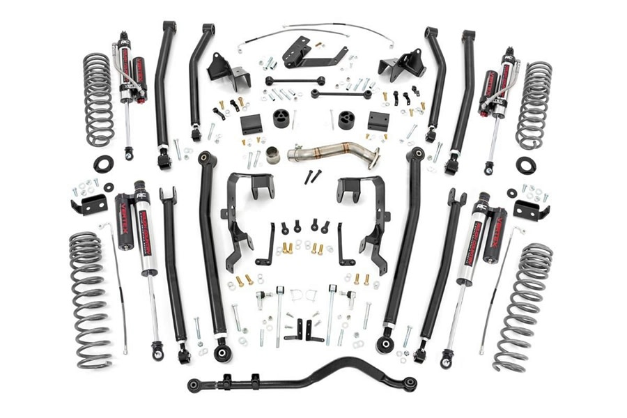 Rough Country 4in Long Arm Suspension Lift Kit w/ Vertex Shocks  - JK 2012+ 4Dr 3.6L