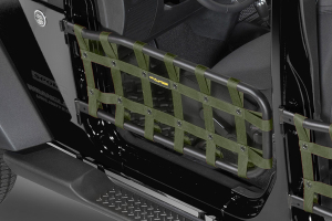 Dirty Dog 4X4 Olympic Front Tube Door Netting, Olive Drab (Part Number: )