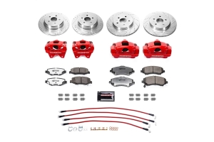 Power Stop Big Brake Conversion Kit w/ Brake Hose Kit for 0-4in Lift - JK