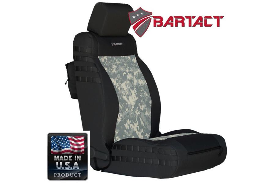 Bartact Tactical Series Front Seat Covers - Black/ACU Camo, SRS-Compliant - JK 2011-12