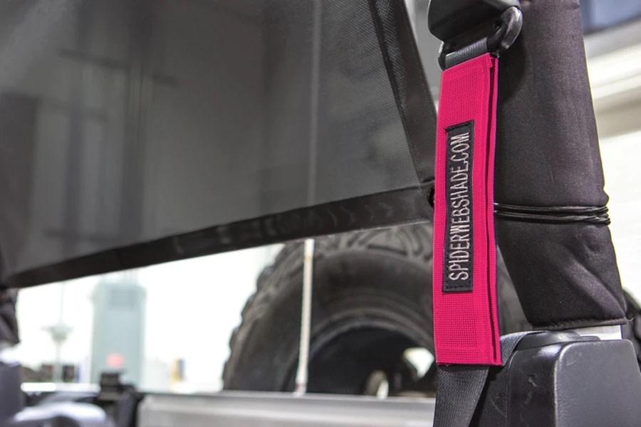 SpiderWebShade Seatbelt Silencers - Pink - JK 2Dr