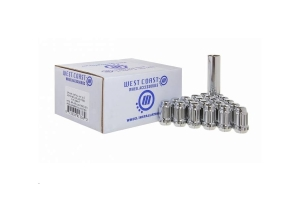 West Coast 8 LUG 9/16in Closed End Spline Install Kit, Chrome  (Part Number: )