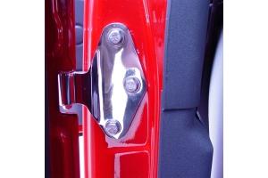 Kentrol 8-Pieces Body Door Hinge Set - Polished Silver  - JK 4Dr