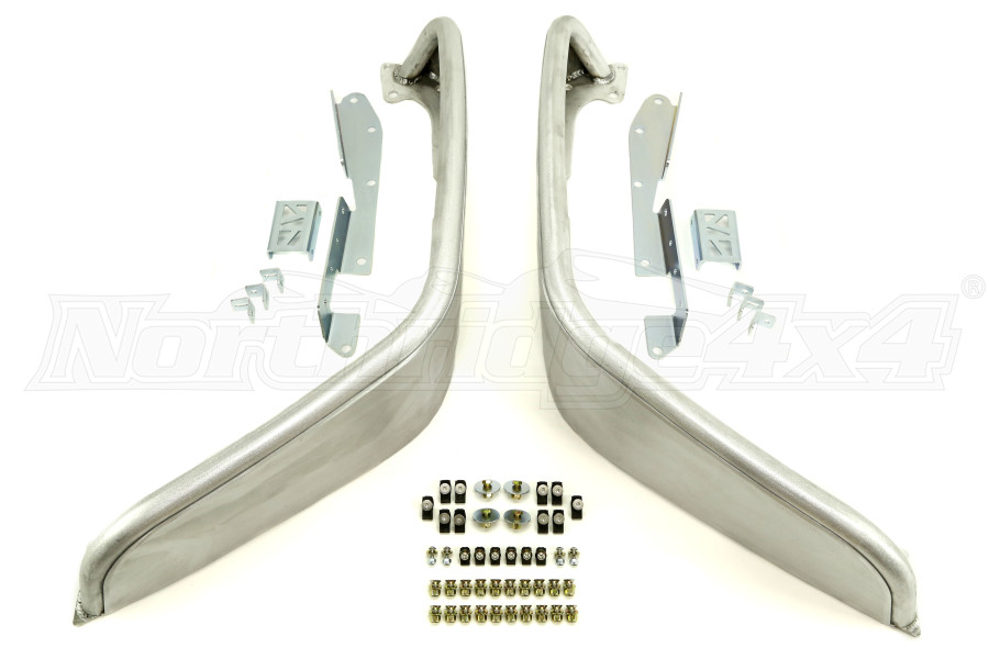 Poison Spyder Extra Wide Front Crusher Flares Aluminum Bare (Part Number:17-03-032-ALUM)
