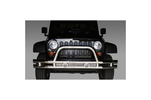 Rugged Ridge Tube Front Bumper, 3 Inch, Stainless Steel (Part Number: )