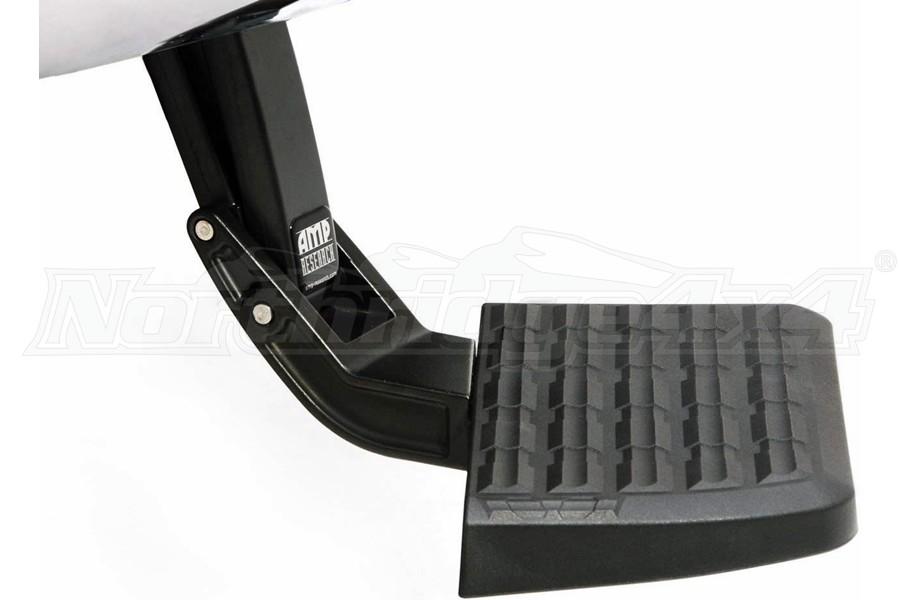 Amp Research Retractable Bedstep Bumper Step - Black - 15-19 Silverado/Sierra