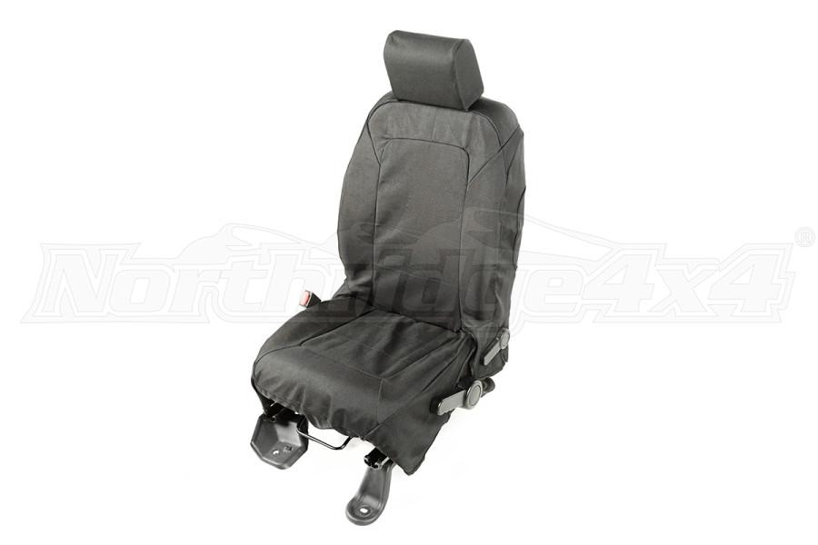 Rugged Ridge E-Ballistic Front Seat Cover Set, Black (Part Number:13216.01)