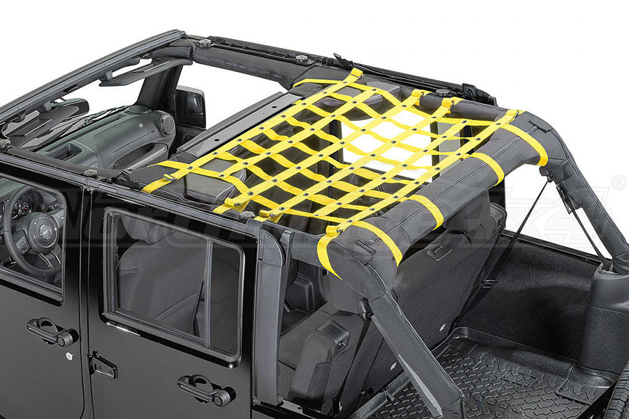 Dirty Dog 4x4 Rear Seat Netting Yellow (Part Number:J4NN07M1YL)