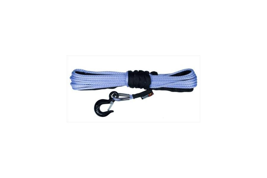 Rugged Ridge 1/4-Inch Synthetic Winch Line, Blue  (Part Number:15102.31)