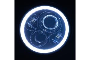Quake LED Tempest Series 9in White DRL Halo / Amber Turn Signal Headlights - JL/JT