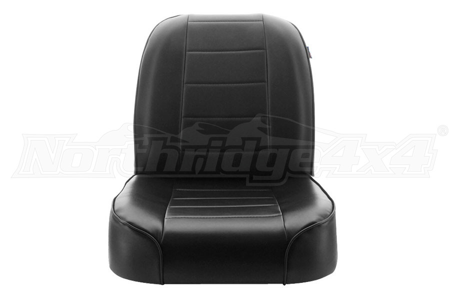 Rugged Ridge Low-Back Front Bucket Seat, Black  (Part Number:13400.01)