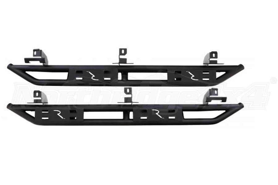 Rampage SRS Retractable RockGuard Side Steps, Black - JL 4Dr
