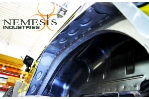 Nemesis Industries Notorious Rear Flare w/Skeletos, Semi Gloss Black Powder Coating Aluminum