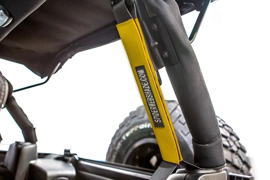 SpiderWebShade Seatbelt Silencers - Yellow - JK 4Dr