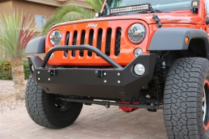 Rock Hard 4x4 Patriot Series Mid Width Front Bumper Aluminum (Part Number: )