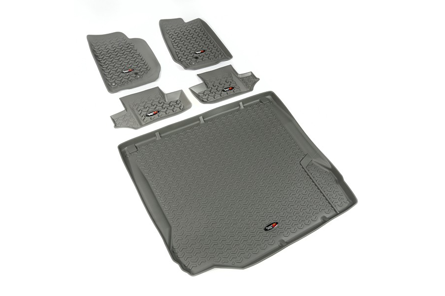 Rugged Ridge Floor Liner Kit, Gray (Part Number:14988.02)