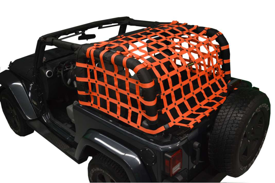 Dirty Dog 4x4 Rear Netting Orange (Part Number:J2NN07RCOR)