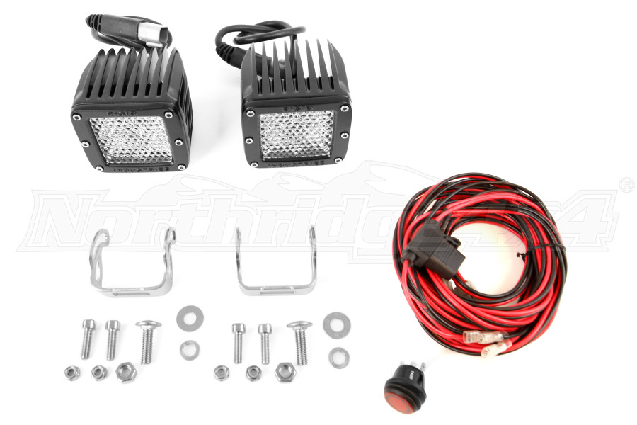 Rigid Industries Dually Light Set 60 Degree Lens Diffused (Part Number:202513)
